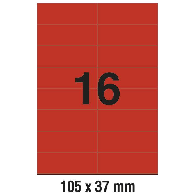 Etikete ILK 105x37mm pk100L Zweckform 3452 crvene