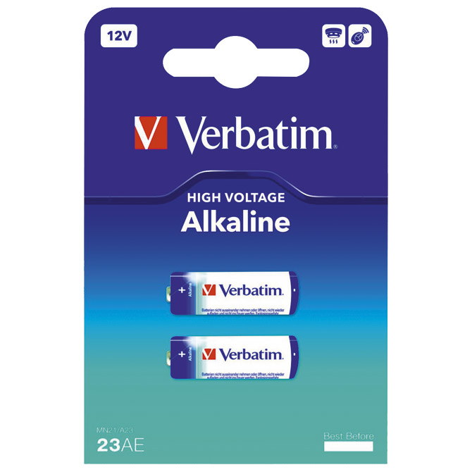 Baterija alkalna 12V MN21/A23 pk2 Verbatim 49939 blister!!