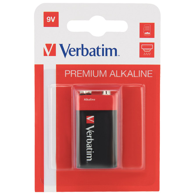 Baterija alkalna 9V Verbatim 49924 blister