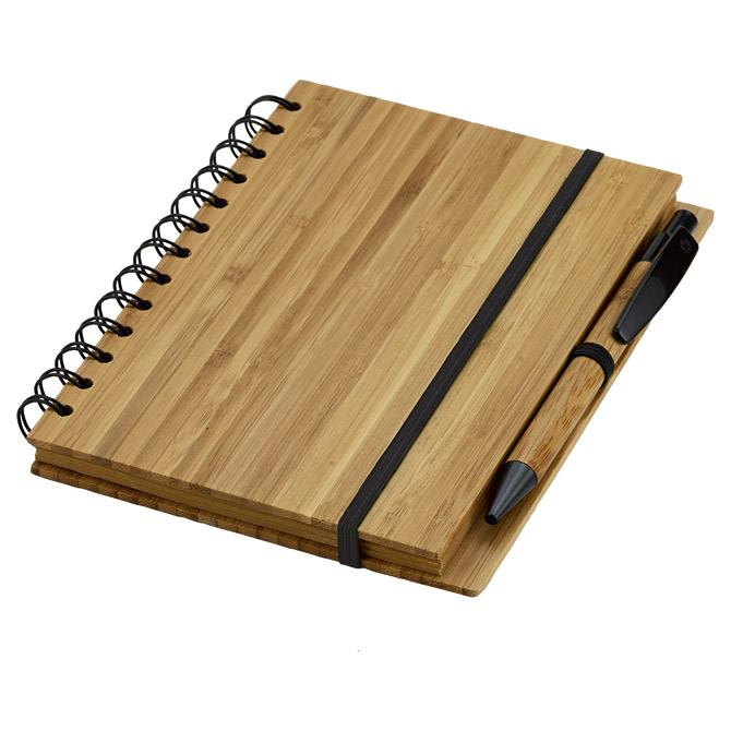 Blok kolegij 13x18cm crte 70L natur + olovka kemijska bambus