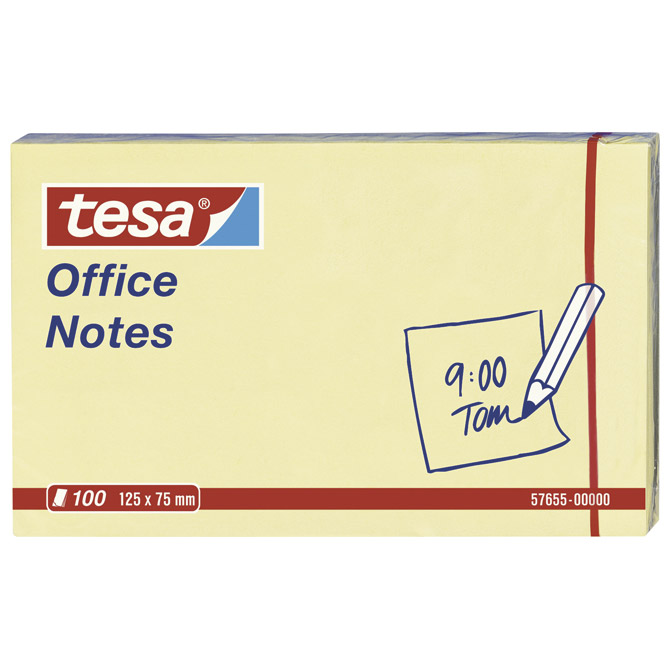 Blok samoljepljiv 125x75mm 100L Office notes Tesa 57655 žuti!!