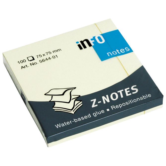 """Blok samoljepljiv """"Z"""" 75x75mm 100L Global Notes 5644-01 žuti"""