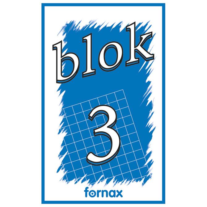 Blok za bilješke  80x130mm 50L br.3 Fornax