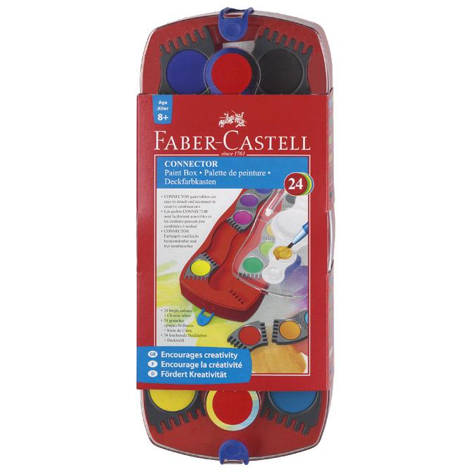 Boja vodena fi 24mm 24boje Connector Faber Castell 125029