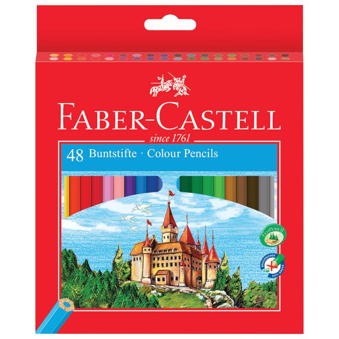Boje drvene  48boja Faber Castell 120148 blister