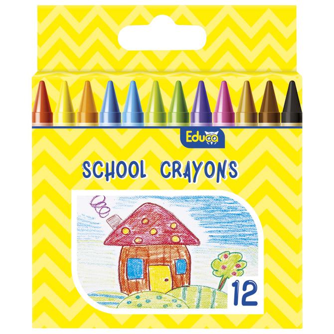 Boje voštane 12boja kartonska kutija Color Educa blister