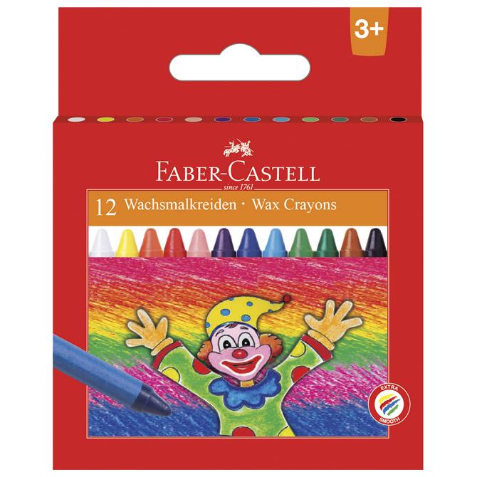 Boje voštane 12boja kartonska kutija Faber Castell 120002 blister!!