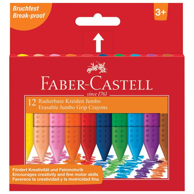 Boje voštane 12boja kartonska kutija Jumbo Grip 2001 Faber Castell 122540 blister