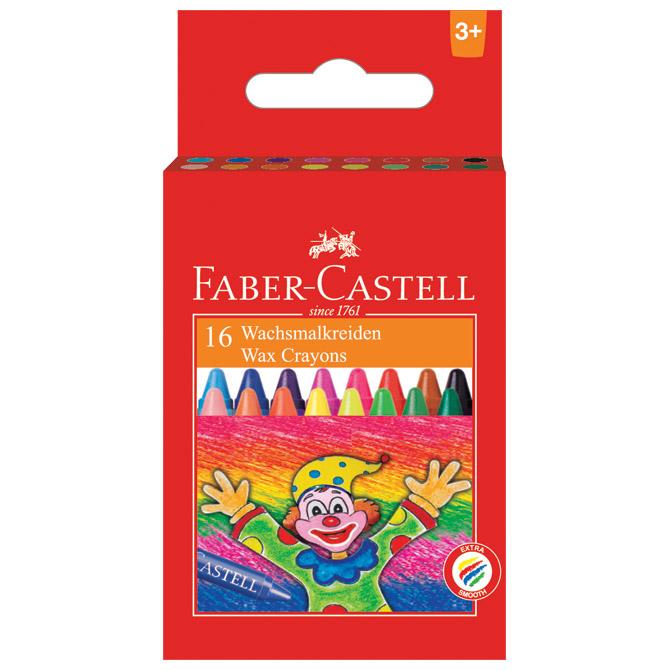 Boje voštane 16boja kartonska kutija Faber Castell 120050 blister!!