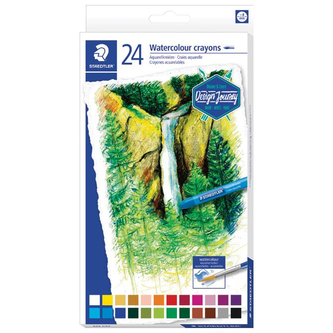 Boje voštane akvarel 24boje Design Journey Staedtler 223 C24 blister