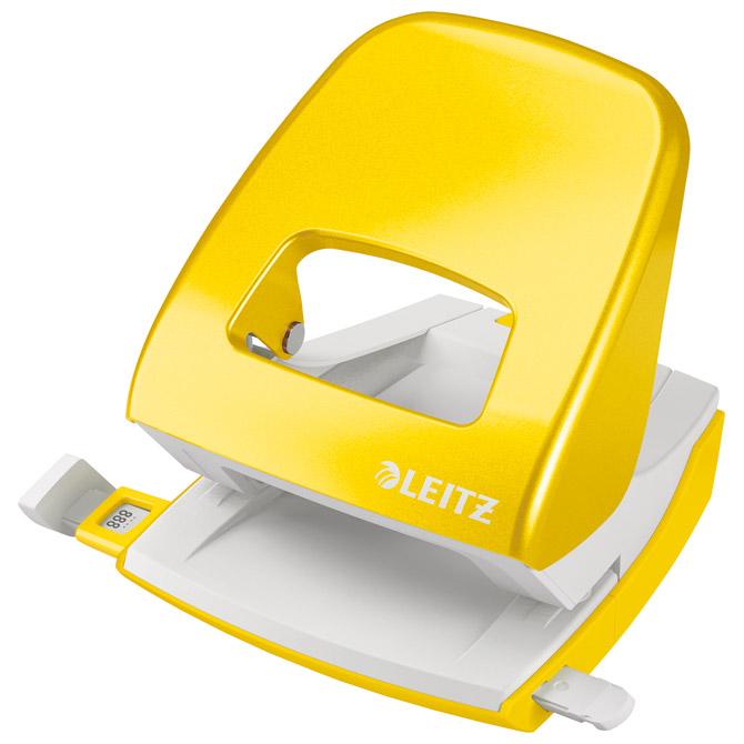 Bušač 2 rupe do  30 listova Wow Leitz 50081216 žuti