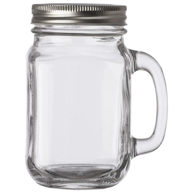 Čaša staklena sa drškom prozirna