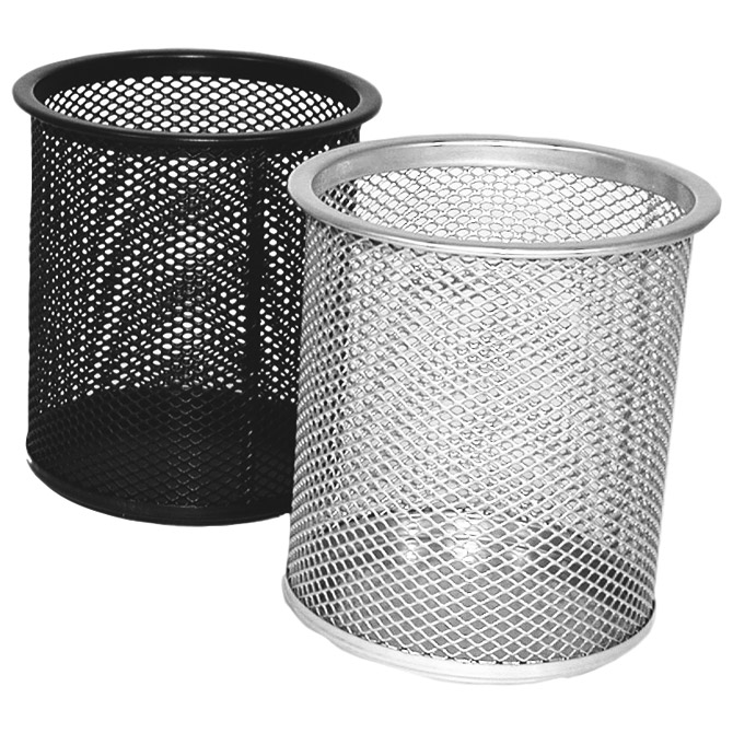 Čaša za olovke metalna žica okrugla fi-9xH-9
