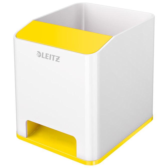 Čaša za olovke pvc četvrtasta Wow Leitz 53631016 bijela/žuta