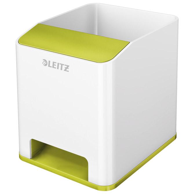 Čaša za olovke pvc četvrtasta Wow Leitz 53631064 bijela/zelena!!