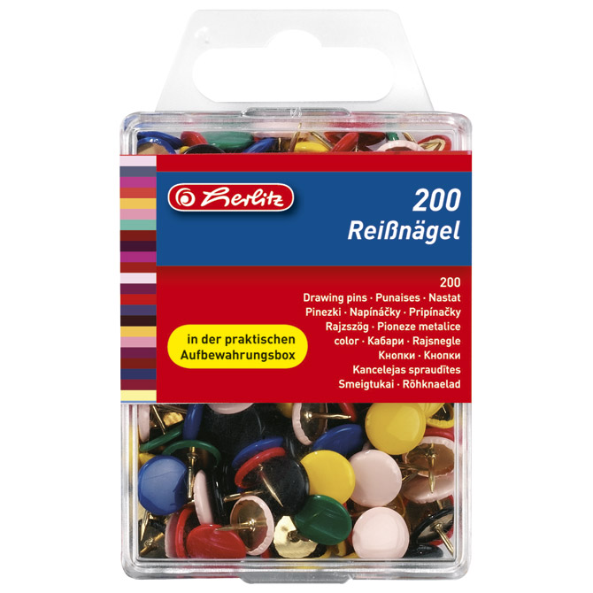 Čavlići u boji puni pk200 Herlitz 8770109 blister