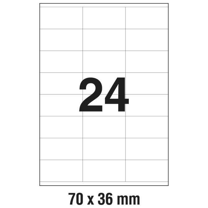 Etikete ILK  70x36mm pk100L Zweckform 3475
