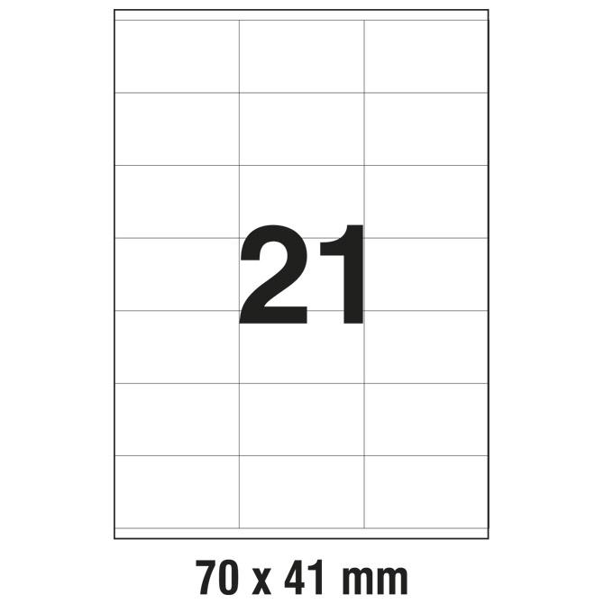 Etikete ILK  70x41mm pk100L Zweckform 3481