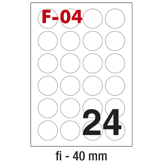 Etikete ILK fi-40mm pk100L Fornax F-04