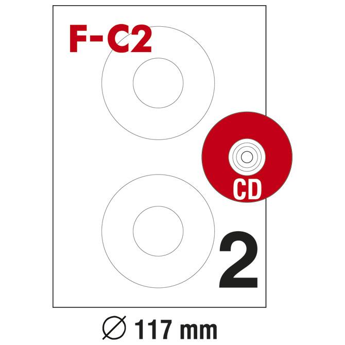 Etikete ILK za CD/DVD fi-117mm pk100L Fornax F-C2