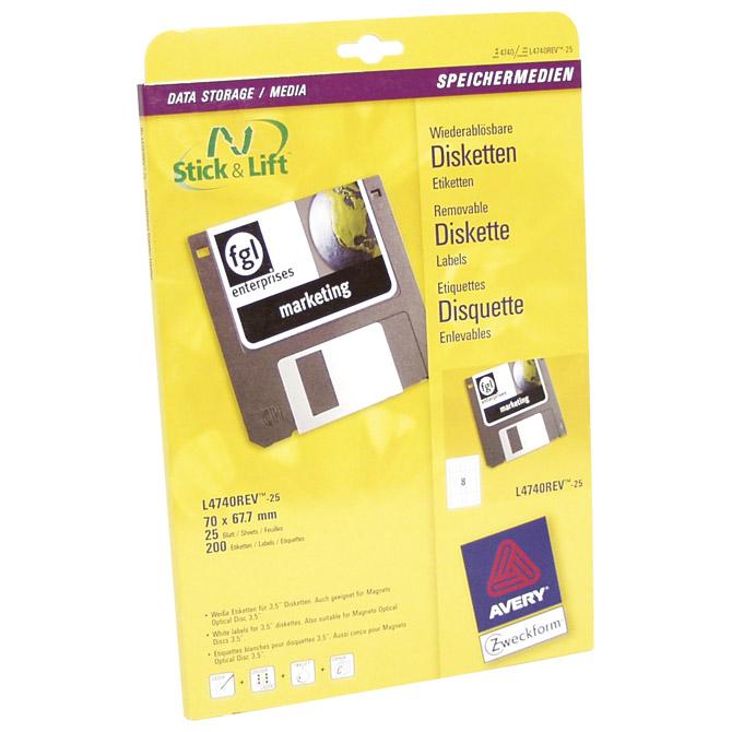 Etikete ILK za diskete 70x67