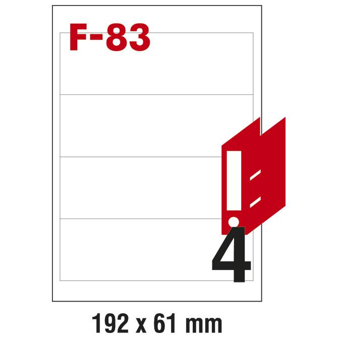 Etikete ILK za registratore 192x61mm pk100L Fornax F-83