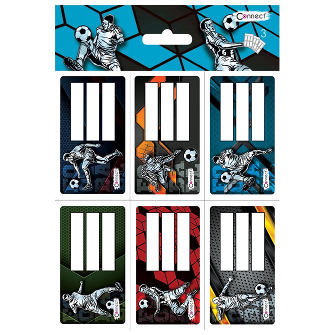 Etikete školske 6/1x3+raspored sati-dječaci Connect blister