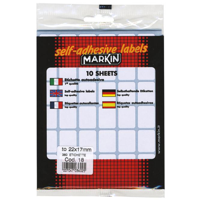 Etikete slep  22x17mm pk10L Markin 10018 blister