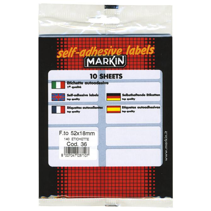 Etikete slep  52x18mm pk10L Markin 10036 blister