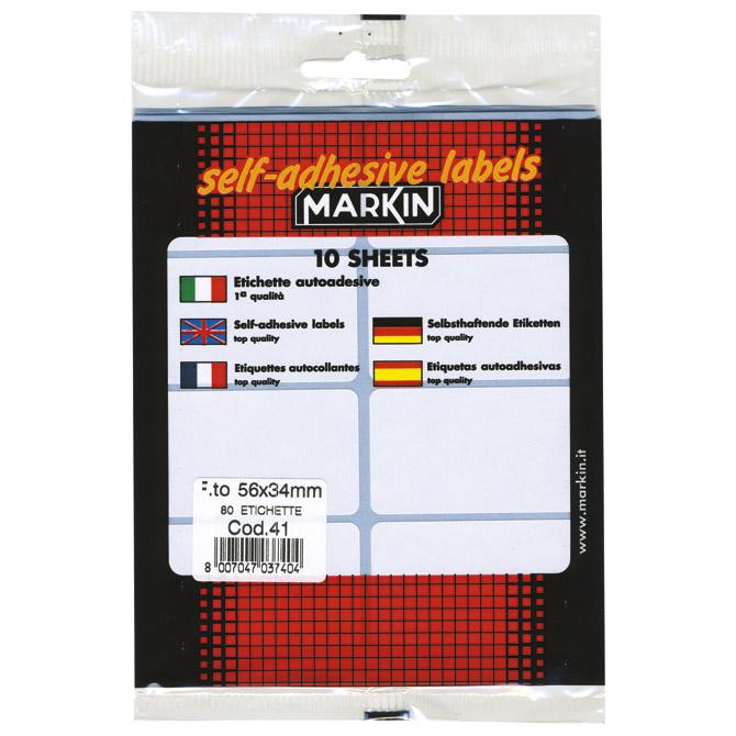 Etikete slep  56x34mm pk10L Markin 10041 blister