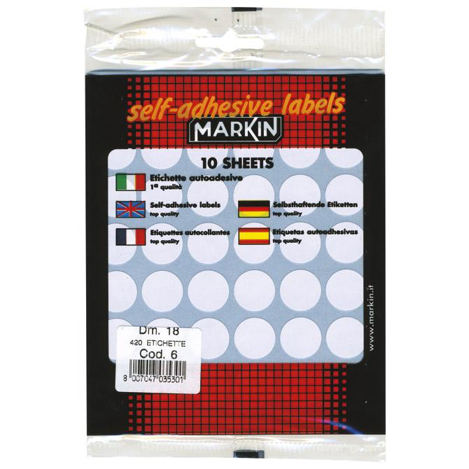Etikete slep fi-18mm pk10L Markin 10006 blister