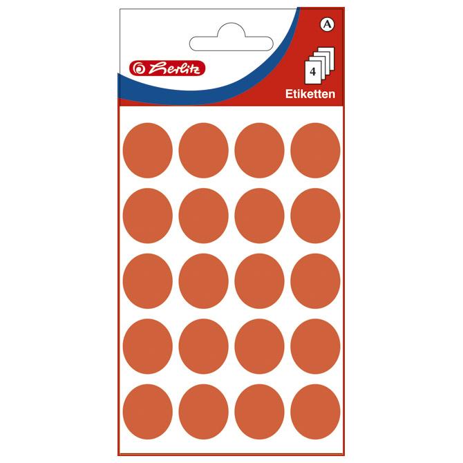Etikete slep fi-19mm pk4L Herlitz 11294303 crvene blister!!