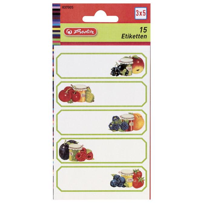 Etikete za kućanstvo 3L voće1 Herlitz 837005!!