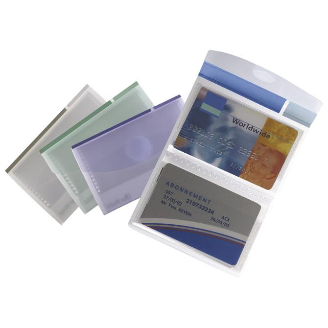 Etui za vizitke 8 džepova 16 kartica Tarifold 510299 prozirno sortirano!!