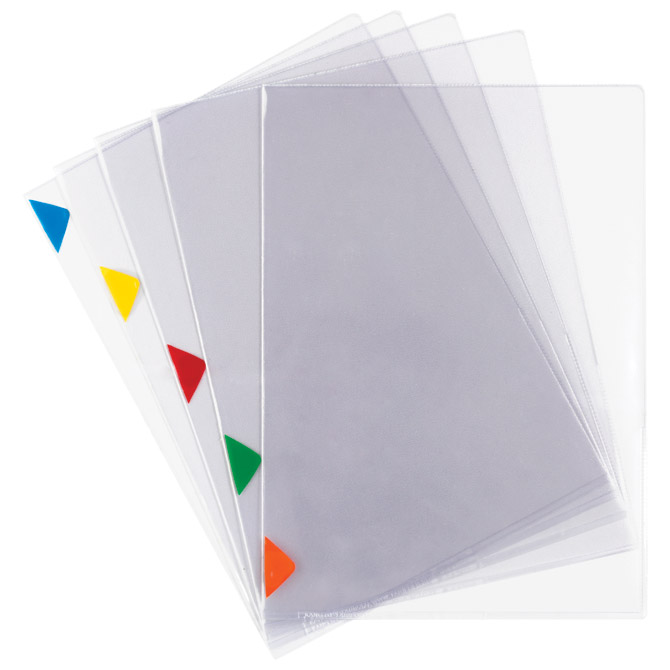 "Fascikl ""L"" 200my pvc A4+ pk5 Tarifold 511519 (oznake u boji) prozirni"