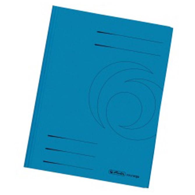 Fascikl klapa karton reciklirani A4 Herlitz 11076452 plavi