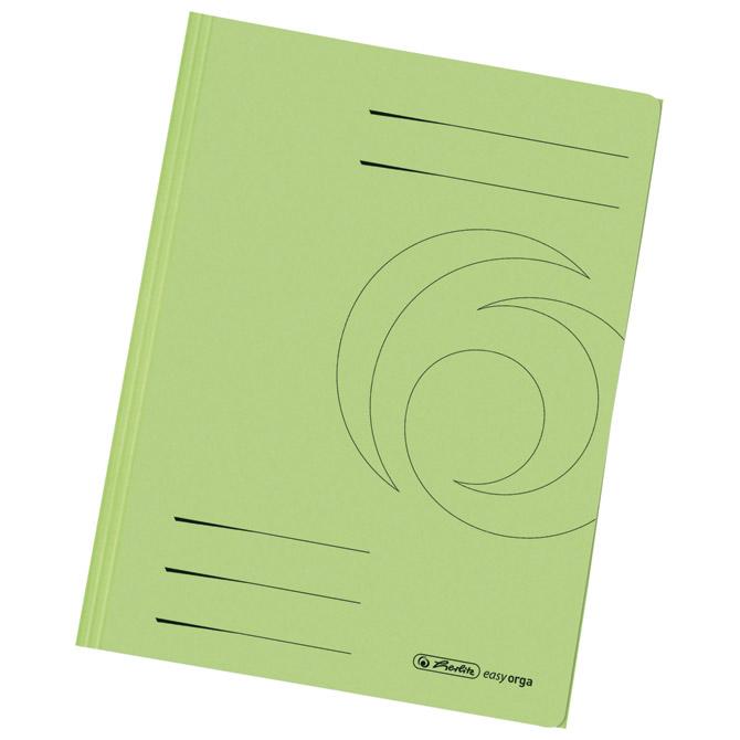 Fascikl klapa karton reciklirani A4 Herlitz 11076460 zeleni