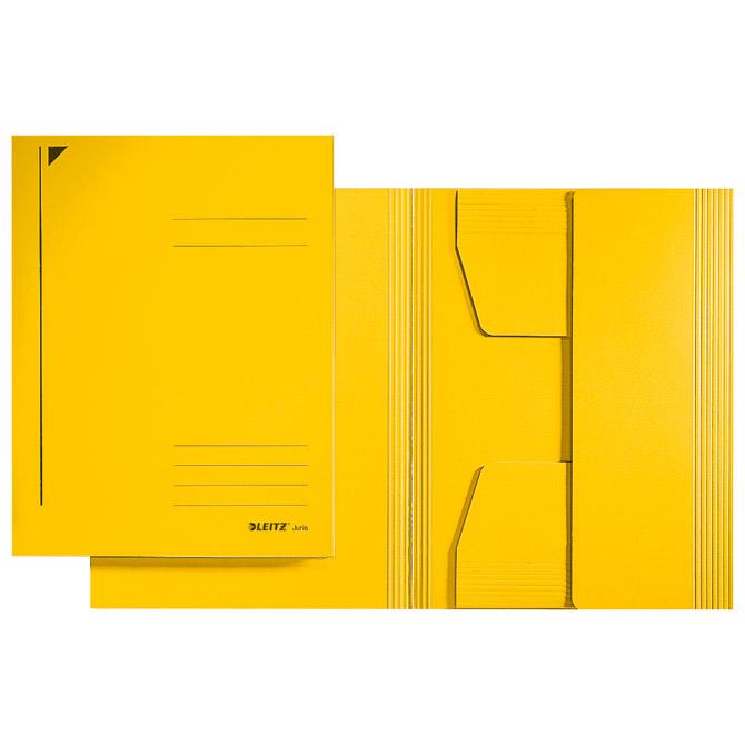 Fascikl klapa prešpan karton A4 Juris Leitz 39240015 žuti
