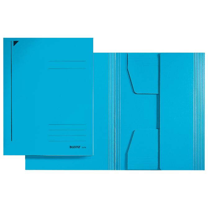 Fascikl klapa prešpan karton A4 Juris Leitz 39240035 plavi