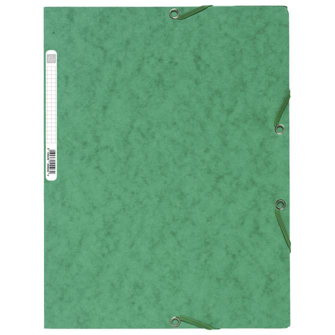 Fascikl klapa s gumicom chartreuse A4 Exacompta 55503E zeleni