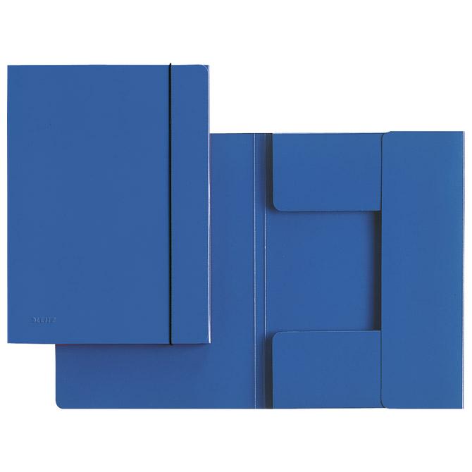 Fascikl klapa s gumicom karton A4 Leitz 39260035 plavi