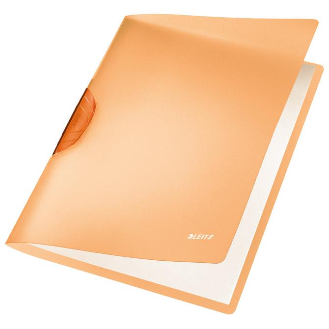 Fascikl klip pp A4 Color R-Bow Leitz 41760045 narančasti