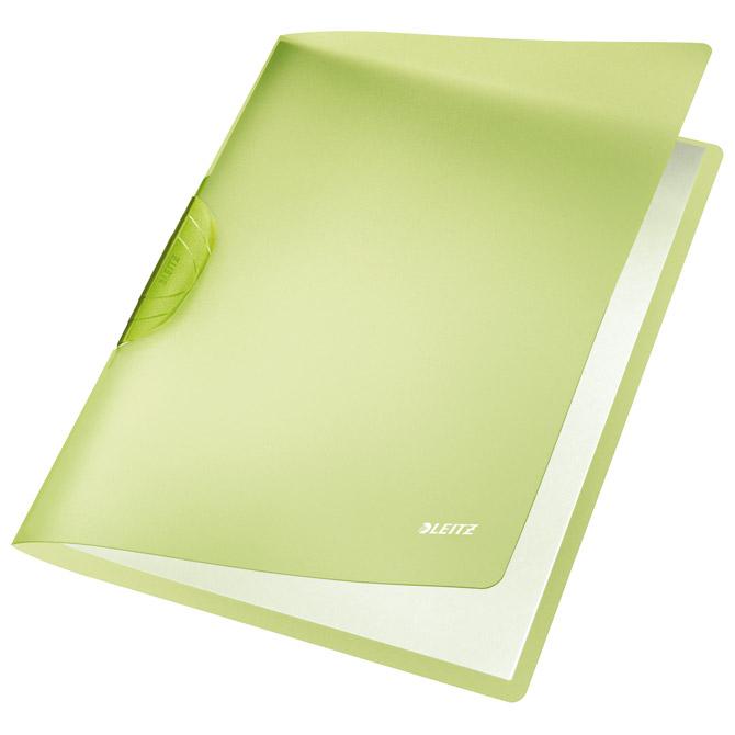Fascikl klip pp A4 Color R-Bow Leitz 41760055 zeleni