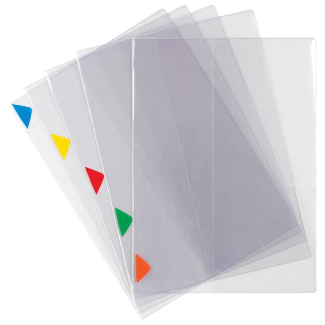 Fascikl preklopni A4+ 200my pvc pk5 Tarifold 511559 (unutarnji džep+oznake u boji) prozirni