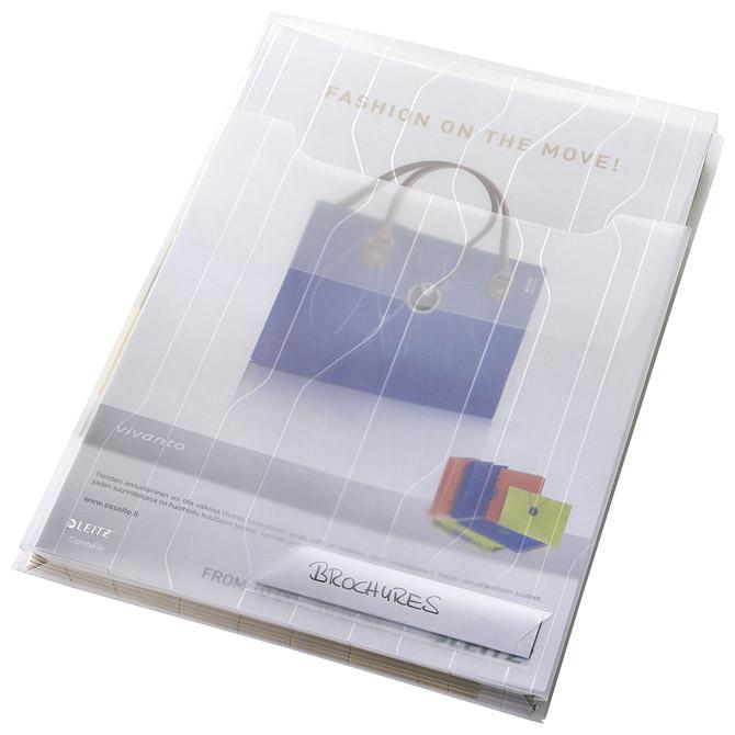 Fascikl uložni A4 pp prošireni+klapa gore pk3 CombiFile Leitz 47270003 bijeli
