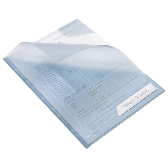 Fascikl uložni A4 pp sa zatvorenim kutom pk5 CombiFile Leitz 47260035 plavi!!