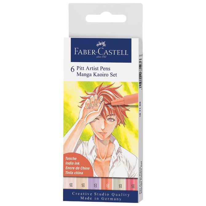 Flomaster Pitt artist  6boja Manga Kaoiro Faber Castell 167168 blister