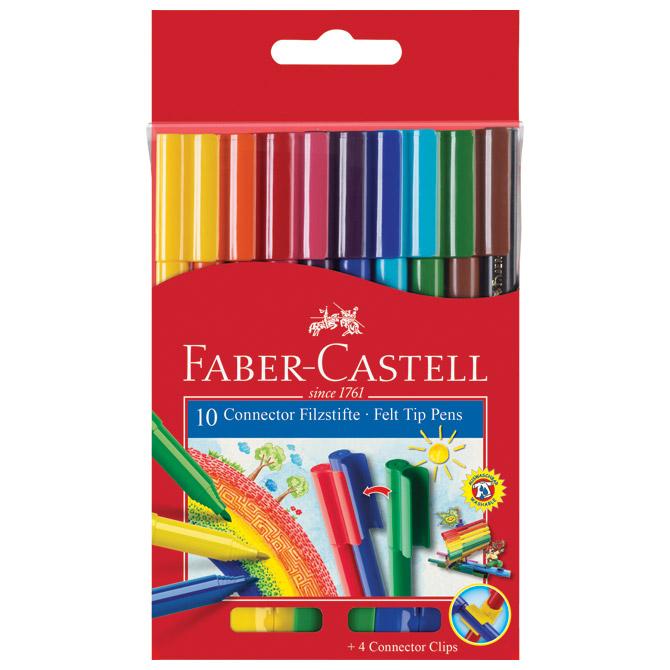 Flomaster školski  10boja Connector Faber Castell 155510 blister!!