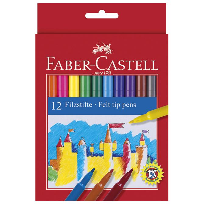 Flomaster školski  12boja Faber Castell 554212 blister!!