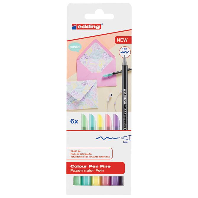 Flomaster školski   6boja pastel Edding 1200/6 S